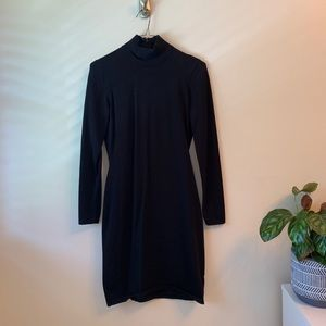 Ralph Lauren | Black Long Sleeve Fitted Dress